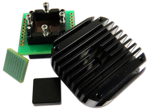 Prise de bande passante 30 GHz pour BGA266 au pas de 0,65 mm Embase